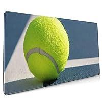 ライン上のテニスボール マウスパッド 40×90 大判 ノンスリップ 防水 ゲーミング おしゃれ マウスの精密度を上がる