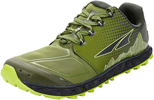 ALTRA Men's AL0A4VQB Superior 4.5 Trail Running Shoe, Green/Lime - 12.5 M US