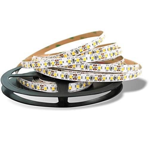 Sirio Bright - Striscia flessibile LED Professionale, 600 LED SMD 2835, 11000 Lumens, bianco naturale 4000K, bobina 5 metri, Non Impermeabile IP20