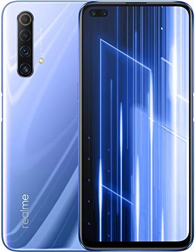 "realme X50 5G- Ice Silver, 5G Ready, 6GB+128GB, 6.57"" LCD display, 48MP Quad Camera, Sim Free smartphone, UK plug and full UK Warranty"