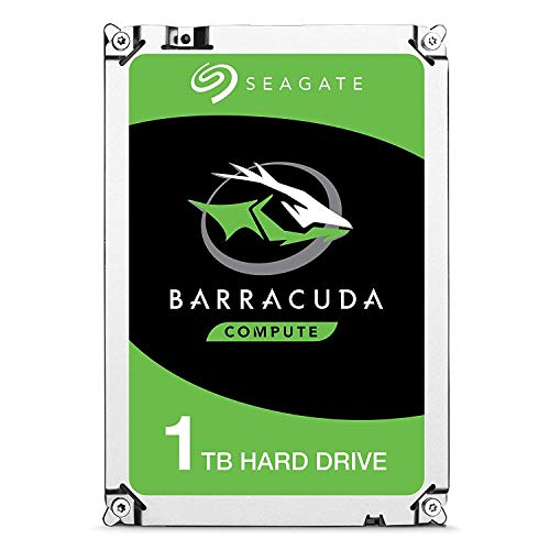 Seagate Barracuda disco rigido interno per PC desktop, NAS (3,5 pollici), 64 MB di cache, SATA-III 6 Gb/s) (1 TB) (Rinnovato)