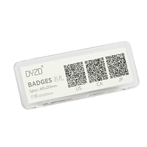 DYZD Pack of 6 Magnetic Badges Magnet Name Tag Holder Badges Name Tag Badge Holders Name Badges Brooch Chest Cards Holders(Style 1,Transparent)