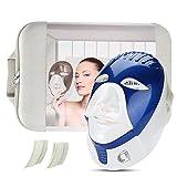 Lichttherapie LED Maske, Gesichtsmaske Schönheit Gesichtspflege Therapie für Gesunde Hautverjüngung, Anti-Aging, Falten, Kollagen, Narben Aufhellung Verjüngung, für zuhause Salon(empfindliches-Blau)