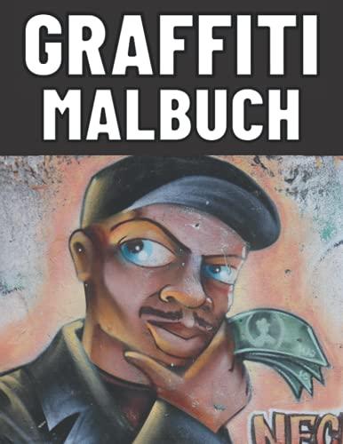 Graffiti Malbuch: Graffiti Schablone Vorlagen Bild Blackbook Schrift für Kinder und Erwachsene