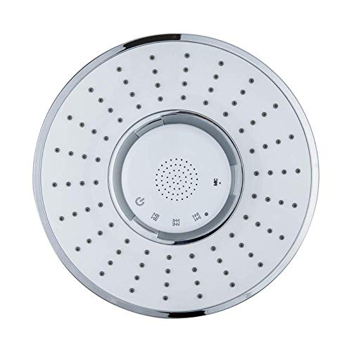 LANZHEN-RY Rain Showerhead, Bluetooth Fixed Shower Head with Waterproof Bluetooth Speaker- V3.0 w/HD Sound, Support Make and Receive Calls Functionhead