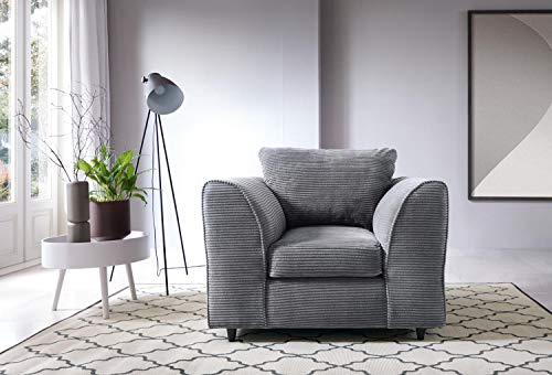 Abakus Direct Jumbo Full Armchair - Grey