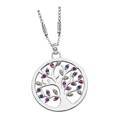 Lotus Silver JLP1890-1-1 - Collar con colgante de árbol de