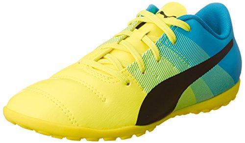 Puma Evopower 4.3 TT Jr, Botas de fútbol Unisex Niños, Gelb (Safety Yellow-Black-Atomic Blue 01), 39 EU