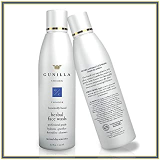 GUNILLA Herbal Face Wash 6.7oz Spa-Grade   12-Herbal Extracts, Gentle Daily Cleanser, Restore pH, Soothe, Hydrate   64% Organic Healing Aloe, Alcohol & Oil-Free   Dry-Norm-Sensitive, Men-Women