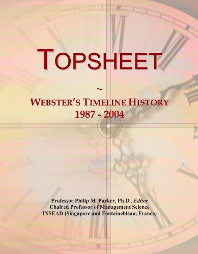 Topsheet: Webster's Timeline History, 1987 - 2004 ✅