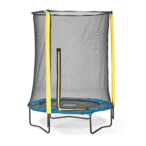 Plum Minions 4.5ft Junior Trampoline & Enclosure 30182AC82 Yellow/Sky Blue/Black