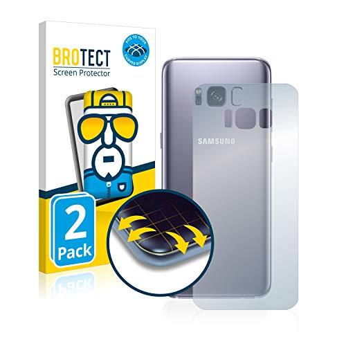 BROTECT Protector Pantalla Completa Compatible con Samsung Galaxy S8 (Trasero) (2 Unidades) 3D Curvo