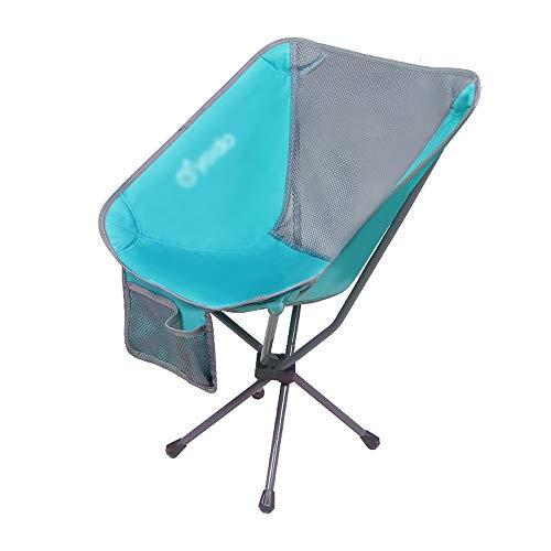 Inklapbare campingstoel, draagbare klapstoel voor buiten, laag gewicht, draagtas, hoge rugleuning, geschikt voor camping, festival, tuin, reizen, vissen, strand, grill, 55 × 52 × 73 cm