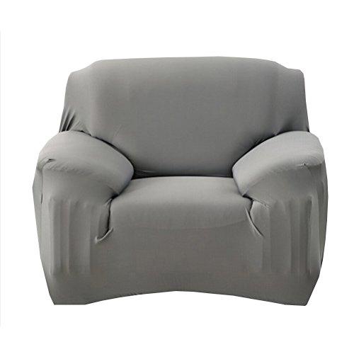WINOMO Housse de Fauteuil Canapé en Polyester Extensible Décor Salon Antipoussière Couvertures et Protecteur de Sofa (Gris)