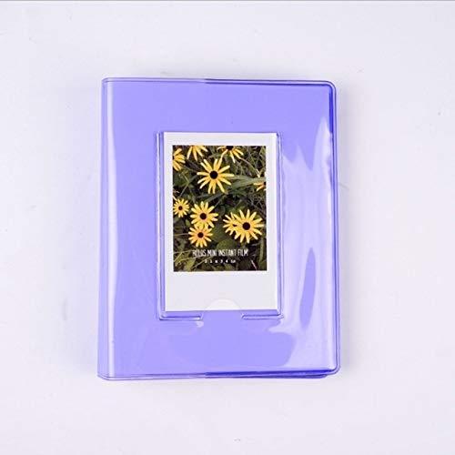 MYSdd 64 Pocket Jelly Series Transparent Mini Album Insert PP Album Business Card Book 3 inch Gift - A