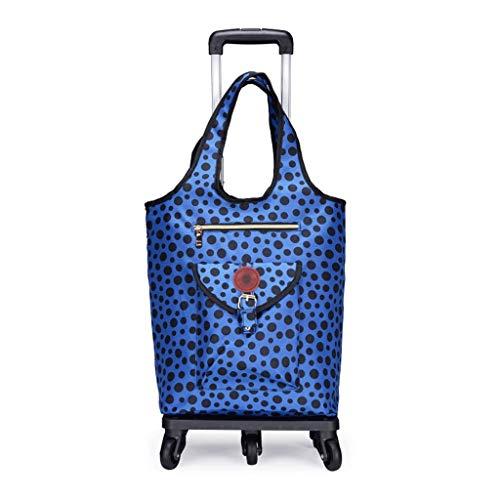 YAYA inklapbare trolley, winkelwagentje, isolatie, boodschappentas, voor reizen, vakantie, camping, strandspel, picknick wasmachine, bagage