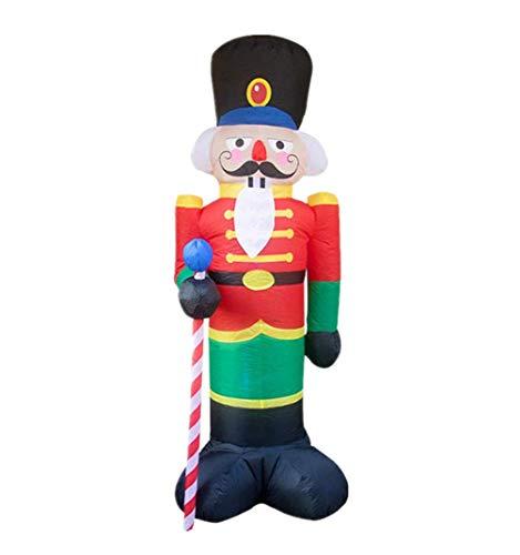 YUASIA 8 Piedi Gonfiabili Natalizi Decorazioni Schiaccianoci Natale Gigante Gonfiabile Gonfiabile Luci A LED Soldato Leggero Natale Dentro Fuori Veranda Prato Yard Garden Decorazioni per Feste