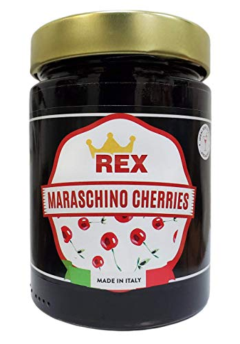 REX Gourmet Cocktail Maraschino Cherries, 14.1 Ounce