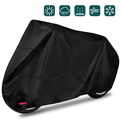 acheter avis Waterproof and windproof motorcycle rain and snow cover XXL 245 x 105 x 125cm Black