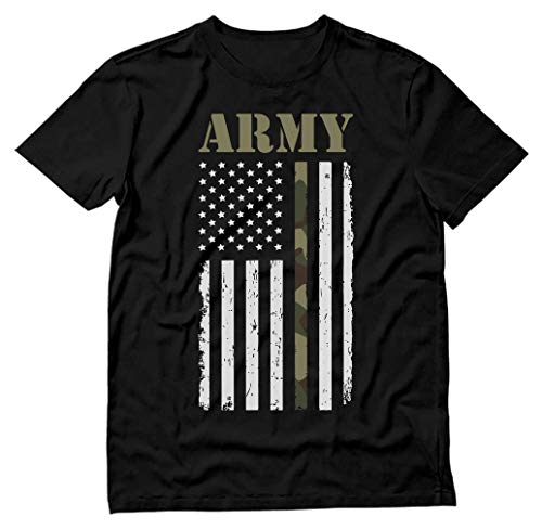 4th of July Big USA Army Flag - Gift for Soldiers, Veterans Military T-Shirt X-Large Black