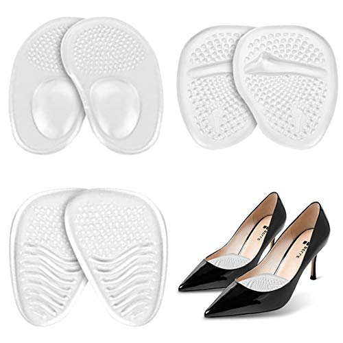 3 Pairs Ball of Foot Cushions for Women Metatarsal Pads Shoe Inserts Women High Heel Shoe Goo Relieve Foot Discomfort