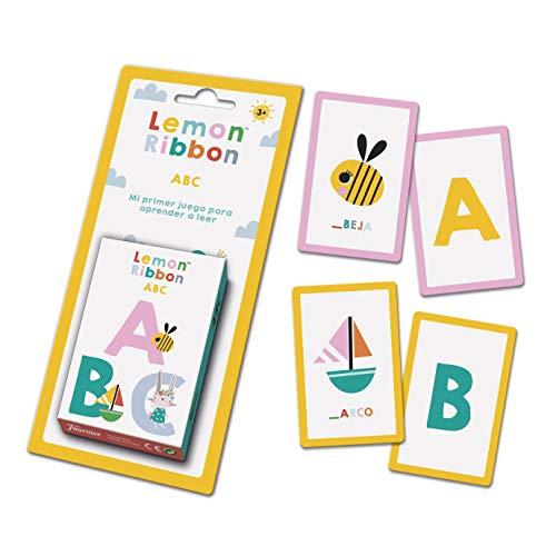 Fournier- Lemon Ribbon ABC. Mi Primer Juego para Aprender a Leer. Baraja de cartas Infantil Educativa, Color multiple (1044177) , color/modelo surtido