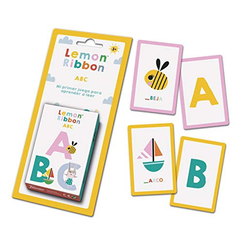 Fournier- Lemon Ribbon ABC. Mi Primer Juego para Aprender a Leer. Baraja de Cartas Infantil Educativa, Color Multiple (1044177)