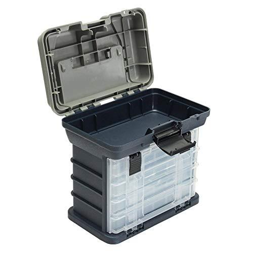 Caja de herramientas portátil de 4 capas, caja de aparejos de pesca, señuelos, bandeja de almacenamiento, caja de cebo, organizador de herramientas, cajón a granel para herramientas y piezas pequeñas