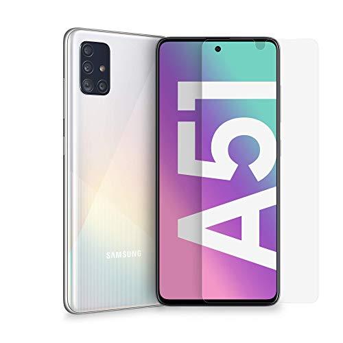 Samsung Smartphone Galaxy A51 + Pellicola Protettiva, Display 6.5' Super AMOLED, 4 Fotocamere, 128 GB, RAM 4 GB, Batteria 4000 mAh, 4G, Dual Sim, Android 10, White, (2020) [Versione Italiana]