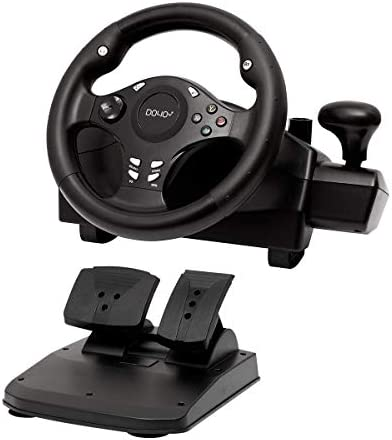 Gaming racing wheel 270 degree driving force steering wheel for racing games PC XBOX ONE XBOX product image
