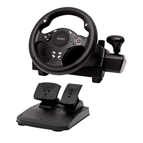Gaming racing wheel 270 degree driving force steering wheel for racing games PC / XBOX ONE / XBOX 360/ PS4 / PS3 / Nintendo Switch / Android with pedals accelerator brake