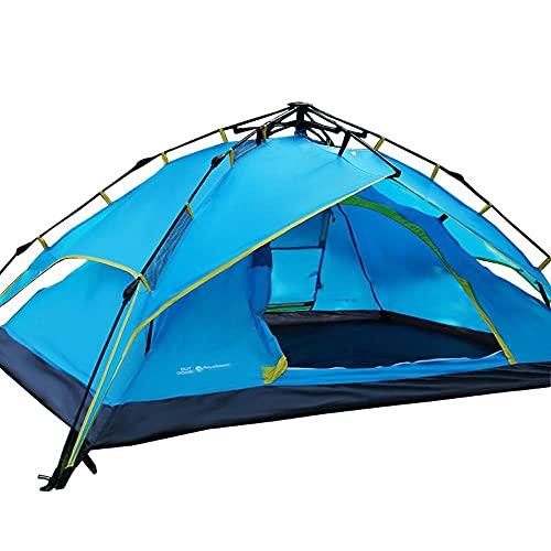DSGTR tienda de campaña al aire libre 3-4 personas camping al aire libre totalmente automático tienda de viaje camping impermeable doble capa tienda