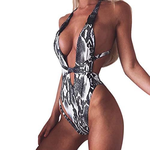 Luckycat Traje de baño Traje De Baño De Mujer, Mujer una Pieza de Impresión Atractivo Bikini Mono Sexy Verano Trikini brasileño bañadores natación Mujer 2019 Deportivos Bikinis