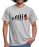 Spreadshirt Contrebasse Évolution du Singe Au Contrebassiste T-Shirt Homme, XL, Gris chiné