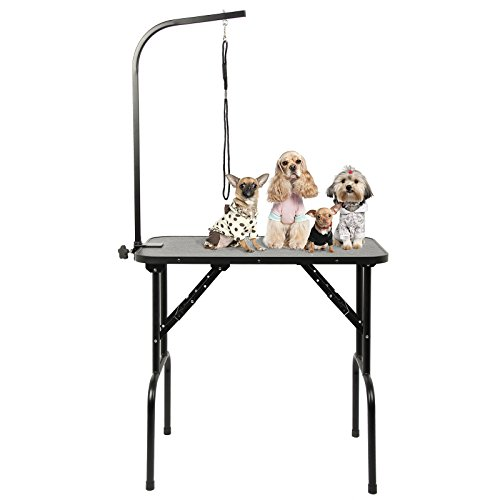 AllRight Adjustable Dog Grooming Folding Pet Table Portable With Arm Noose