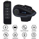 Interfono Cuffia Auricolare Moto 5 Rider Sistema di Comunicazione Bluetooth Walkie Talkie Controllo Remoto NFC (1Pcs)
