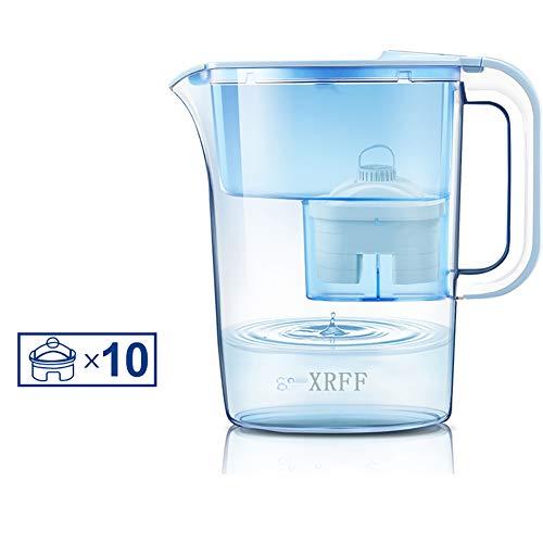 Portable Water Filter, Five-Layer Hoogrendementsfilter Element LED Reminder Filter Kettle 3.5L grote capaciteit geschikt voor Keuken Kantoor,L