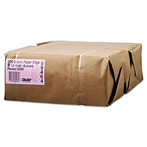 Duro 30908 General Gx8500#8 Paper Grocery Kraft, Extra-Heavy-Duty, 57 lb, 500 Piece