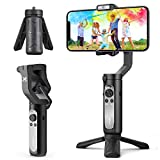 3-Axis Gimbal Stabilizer for Smartphone - 0.5lbs Lightweight Foldable Phone Gimbal w/Auto Inception Dolly-Zoom Time-Lapse, Handheld Gimbal for iPhone 12 pro max/11/Xs Max/Samsung - Hohem iSteady X