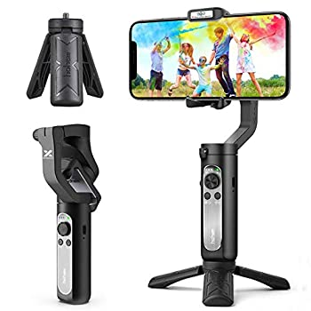 3-Axis Gimbal Stabilizer for Smartphone - Hohem Lightweight Foldable Phone Gimbal w/ Auto Inception Dolly-Zoom Time-Lapse Handheld Gimbal for iPhone 12 pro max/11/Xs Max/Samsung - Hohem iSteady X
