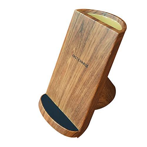 LIGHTOP Qi Ladegerät Kabellos kabelloses Induktive Ladestation Schnellladestation für iPhone XS/XS Max/XR/X/ 8/8 Plus,Samsung Galaxy S9 S9+ S8 S8 Plus S7 S7edge Note 9/8/5 usw Holz