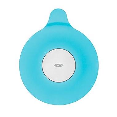 OXO Tot Silicone Tub Drain Stopper- Aqua