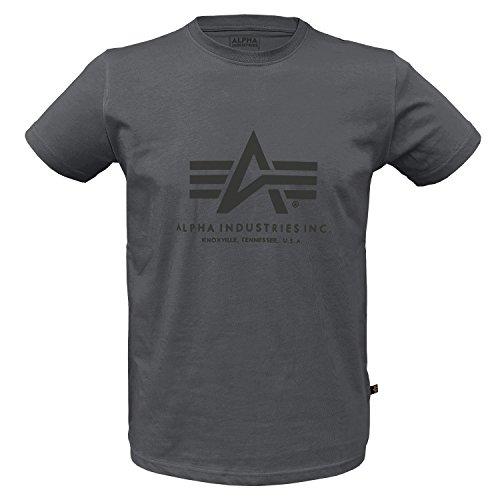 Basic T-Shirt greyblack/Black - L