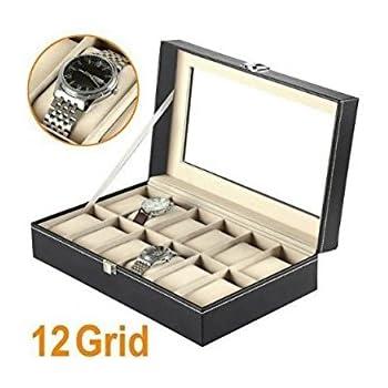 Mbuynow, Estuche Para Relojes, Caja Para Reloj 12 Compartimentos ...