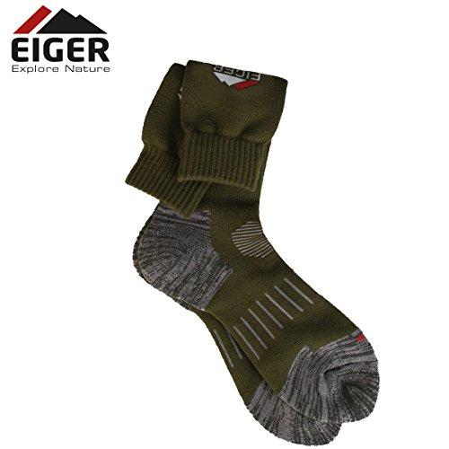 Eiger Chaussettes Homme Profit - Vert - Vert, 40/43