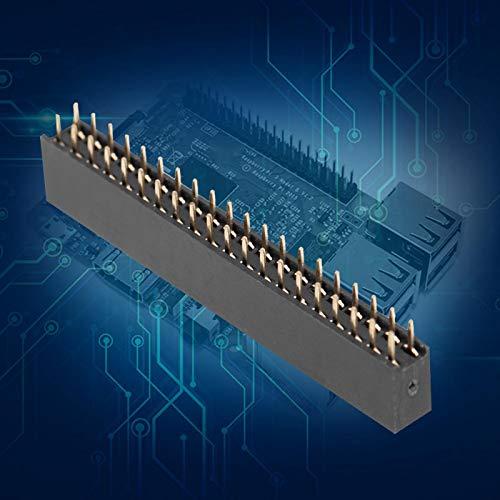 Conector de cabezal hembra, conectores de clavija corta, 5 piezas, 2 x 20 clavijas, paso de 2,54 mm para circuito integrado