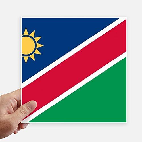 DIYthinker Drapeau National Namibie Afrique Country Square Autocollants 20CM Mur Valise pour Ordinateur Portable Motobike Decal 4Pcs 20Cm X 20Cm Multicolor