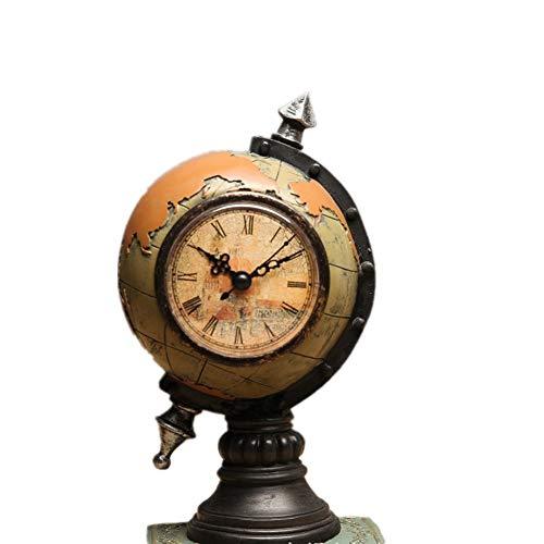 WanuigH Globus Erde mit Uhren und Uhren Dekoration Wein Kabinett Fenster Dekoration Handwerk Wohnaccessoires Maglev Globus (Farbe : Gelb, Größe : Free Size)