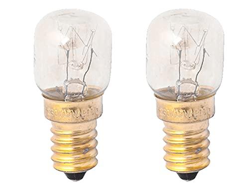 2 PCS Lampadine Da Forno e Microonde, E14 ST22 15W 230V 80 Lumen 2800K, Resistente Alta Temperatura Fino a 300 Gradi