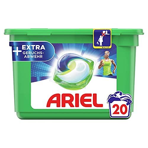 Ariel Waschmittel Pods All-in-1, 20 Waschladungen, Universal + EXTRA Geruchsabwehr